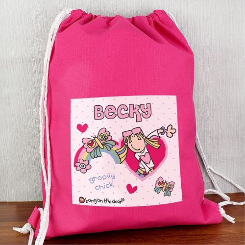 Personalised Bang On The Door Groovy Chick Swim Bag